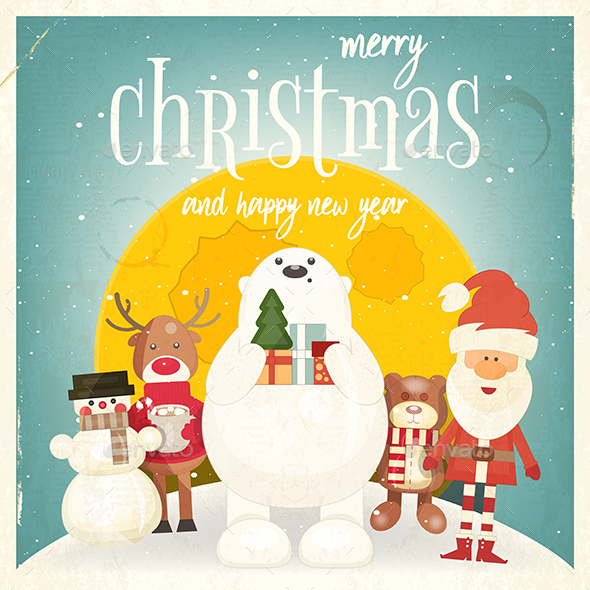 GraphicRiver Merry Christmas Greeting Card 20862216