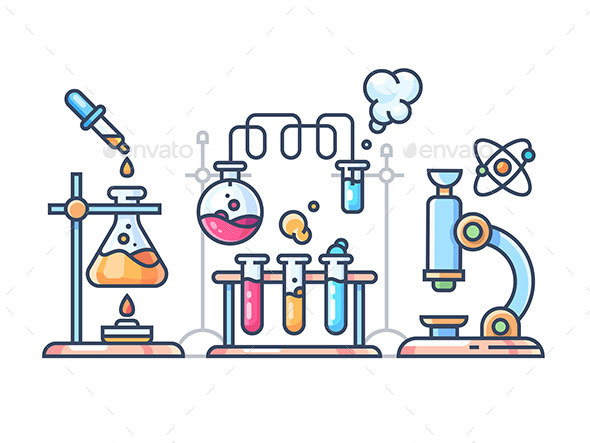 GraphicRiver Chemical Scientific Experiment 20862317