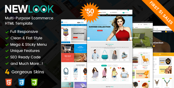 ThemeForest NewLook Responsive Multipurpose E-Commerce HTML Template 20776273