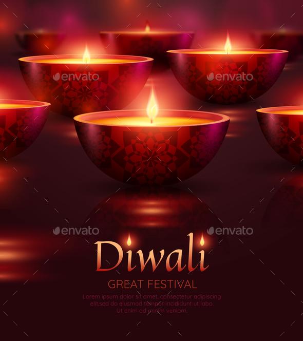 Diwali Celebration Poster - Miscellaneous Seasons/Holidays