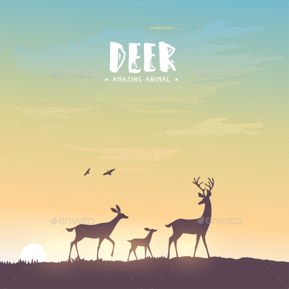 GraphicRiver Deer Silhouette 20862383