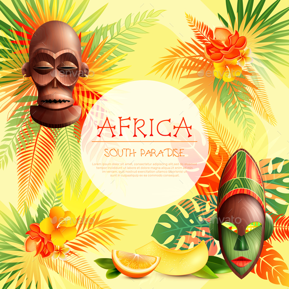 GraphicRiver South Paradise African Frame 20862413