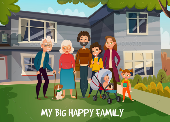 GraphicRiver Happy Family Illustration 20862414