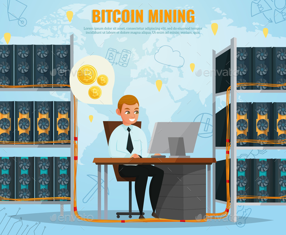 GraphicRiver Cryptocurrency Bitcoin Illustration 20862419
