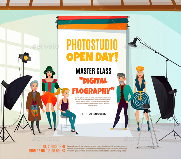 Photo Studio Ad Poster - Industries Business