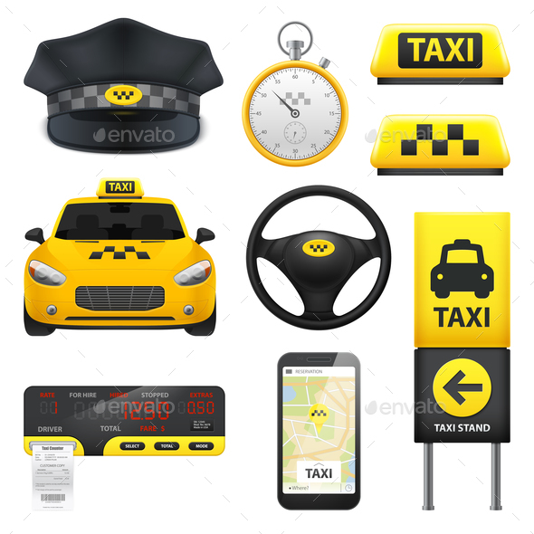 GraphicRiver Taxi Sign Elements Collection 20862454