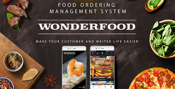 CodeCanyon Wonderfood Food Ordering Management System 20834173