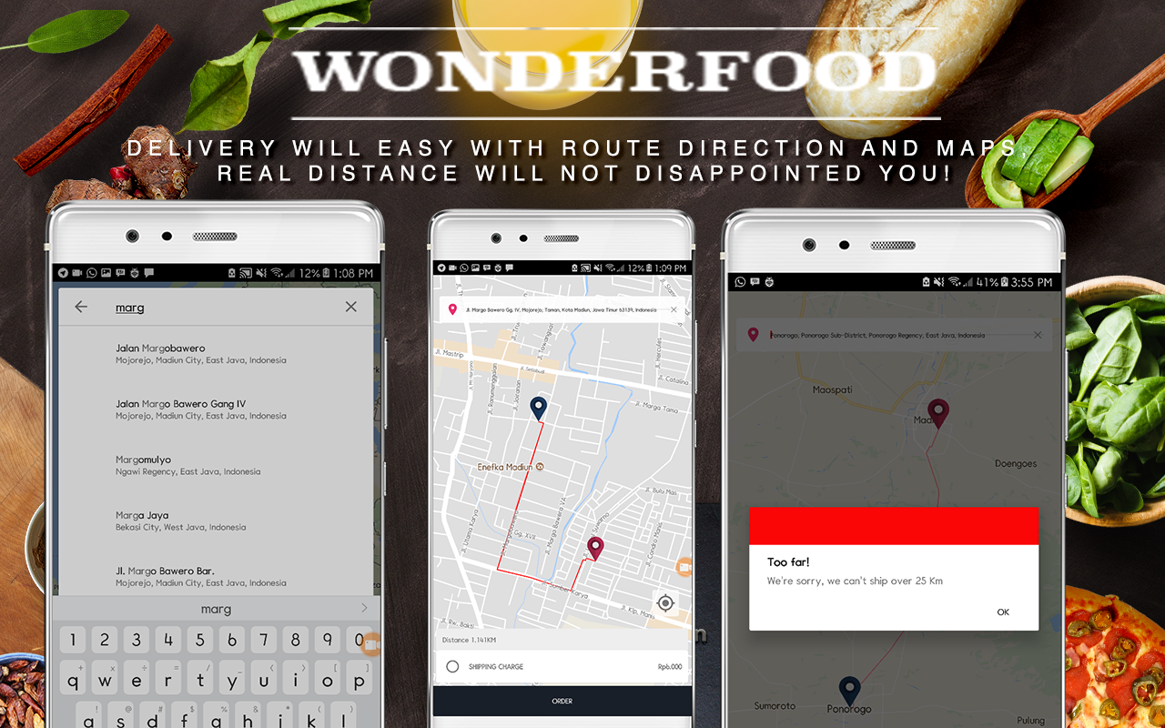 Wonderfood, Food Ordering Management System - 1