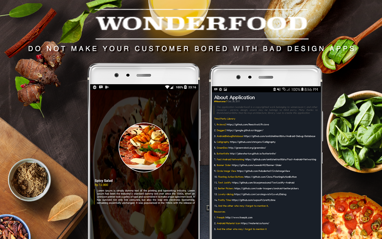 Wonderfood, Food Ordering Management System