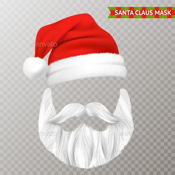 Santa Claus Transparent Christmas Mask - Backgrounds Decorative