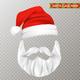 Santa Claus Transparent Christmas Mask