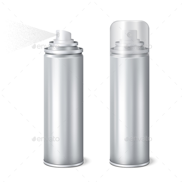 GraphicRiver Aluminium Spray Cans Realistic Set 20862470