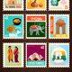India Travel Stamp Cards