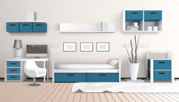 Modern Interior 3D Composition - Miscellaneous Vectors