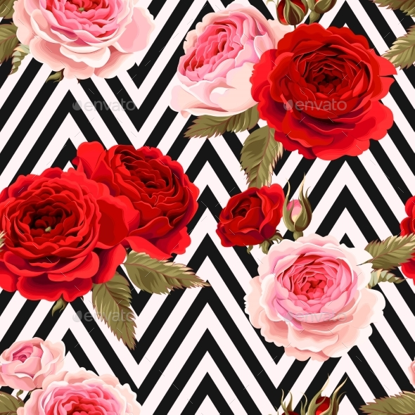 GraphicRiver Seamless Pattern with Roses Ground 20862700