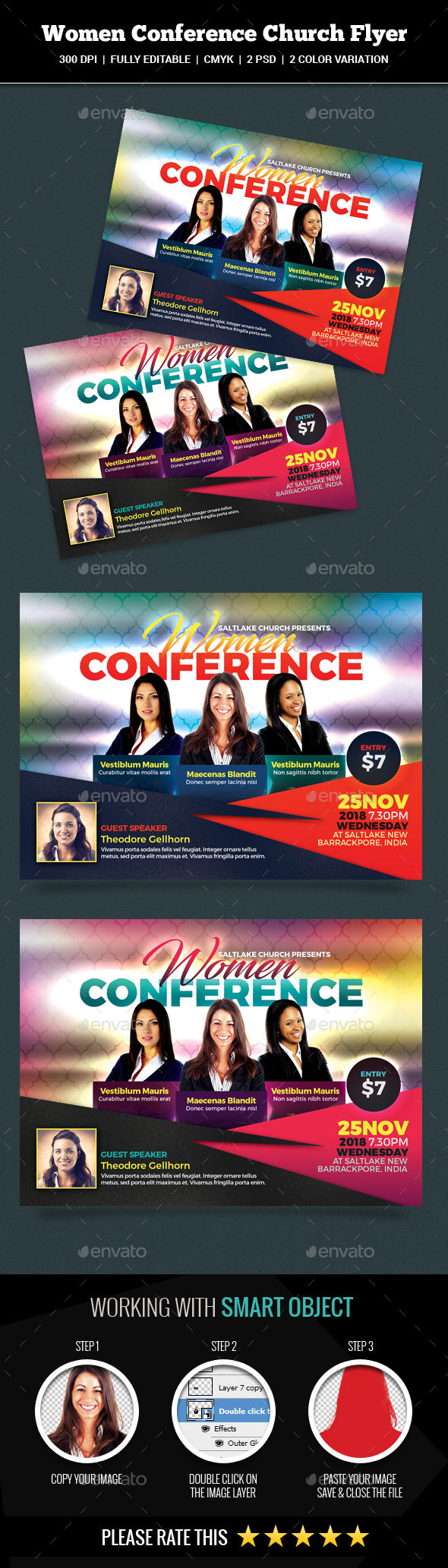 Women Conference Church Flyer - Church Flyers