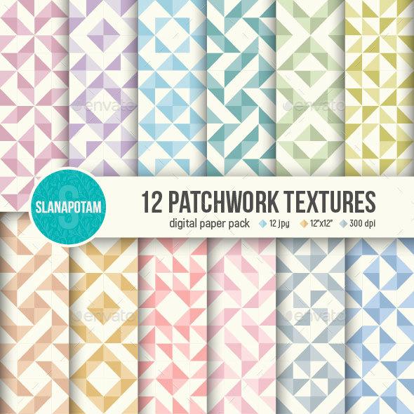12 Patchwork textures - Patterns Backgrounds