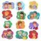 Vector Illustration Set of People Social Media