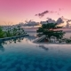 Beautiful Tropic  Sunset Over Infinity Pool in Bali - VideoHive Item for Sale