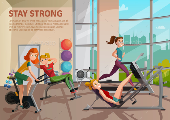 GraphicRiver Exercise Room Illustration 20862900