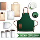 Coffee Shop Elements Mockup