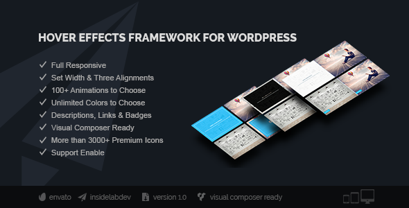Hover Effects Framework for Wordpress