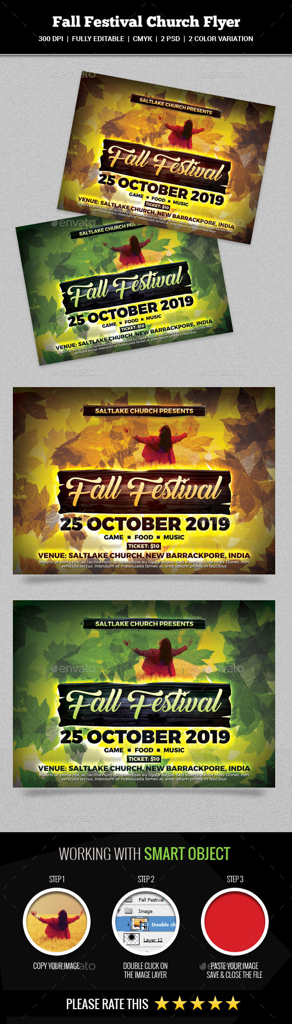 Fall Festival Church Flyer - Church Flyers