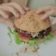 Tasty Burger in Hands of Girl - VideoHive Item for Sale