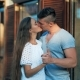 Young Couple in Love, Hugging in the Old Part of Town - VideoHive Item for Sale