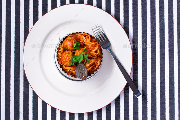 Spaghetti with meatballs - Stock Photo - Images
