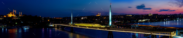 Panorama of Golden Horn - Stock Photo - Images