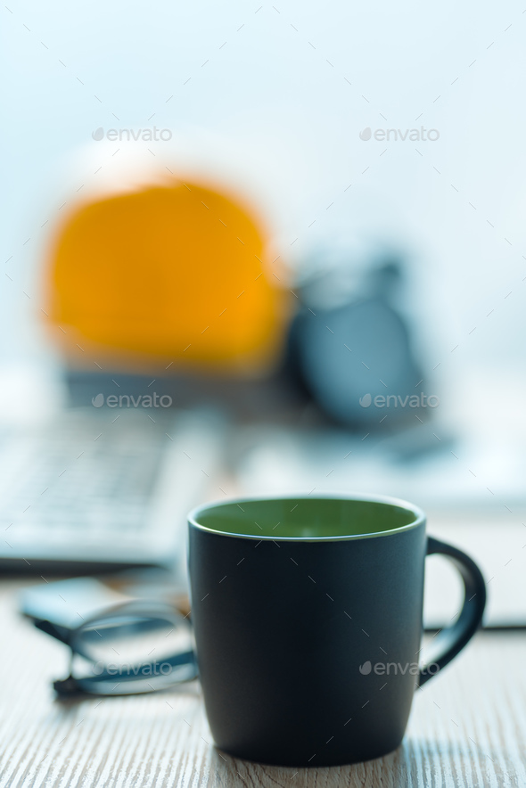 Coffee break in architecrure and interior design studio - Stock Photo - Images