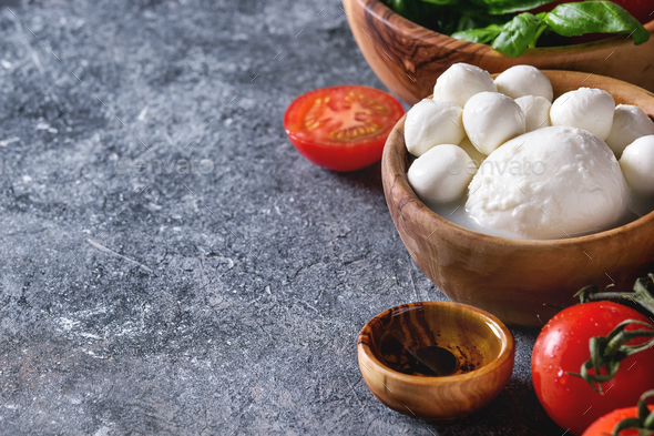 Ingredients for caprese salad - Stock Photo - Images