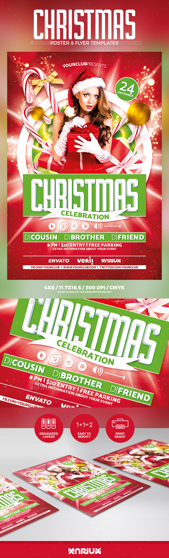 Christmas Party Flyer u0026 Poster