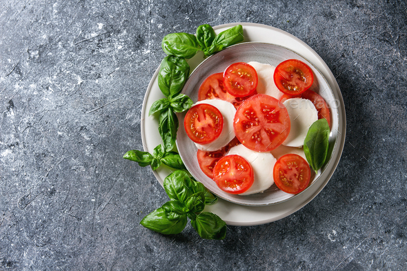 Italian caprese salad - Stock Photo - Images