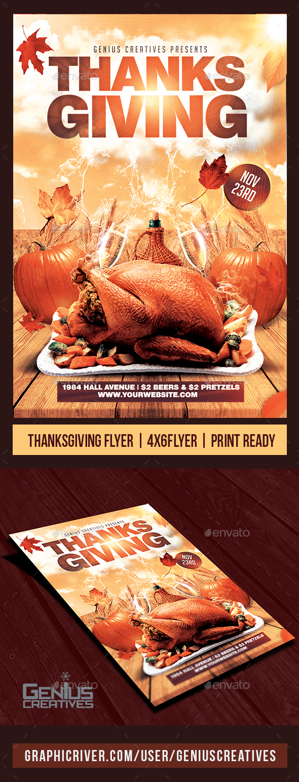 Thanksgiving Flyer Template V2 - Flyers Print Templates