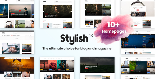 Stylish Blog - Minimal Blog Template - Creative Site Templates