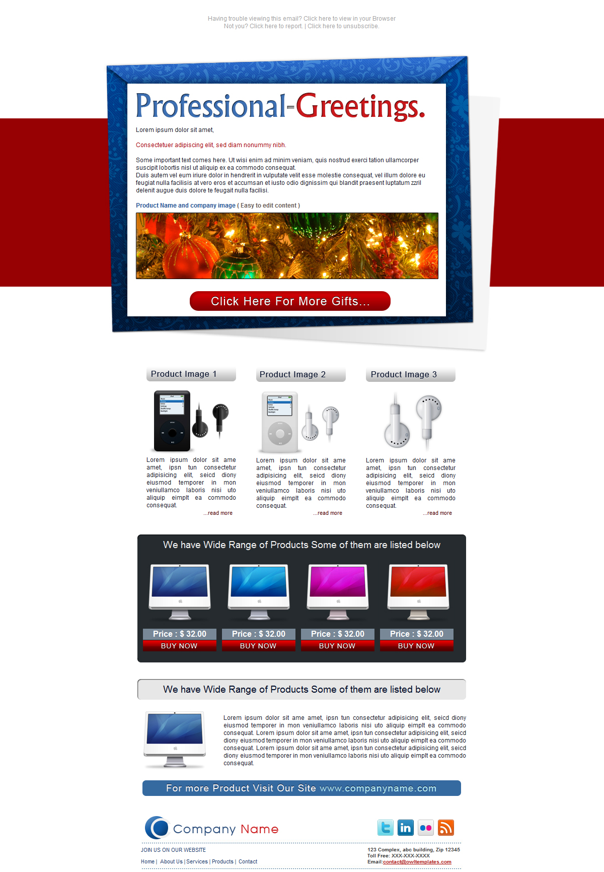Free Download Professional Greetings - Newsletter - Email Nulled Latest Version