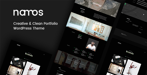 Namos - Creative One/Multi-Page Portfolio WordPress Theme