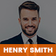 Henry Smith - Creative Personal CV/Resume Portfolio HTML5 Template