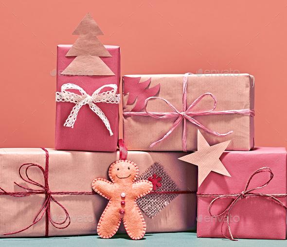 Christmas background decoration. Design Handmade - Stock Photo - Images