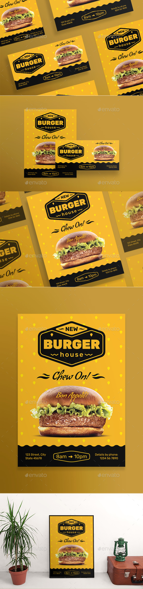 Burger House Banner Pack - Banners & Ads Web Elements