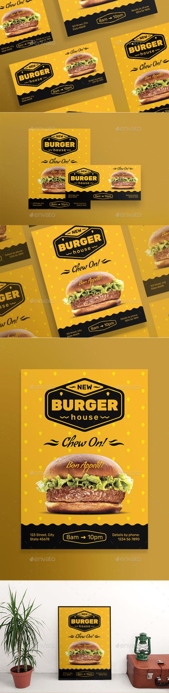GraphicRiver Burger House Social Media Pack 20835759