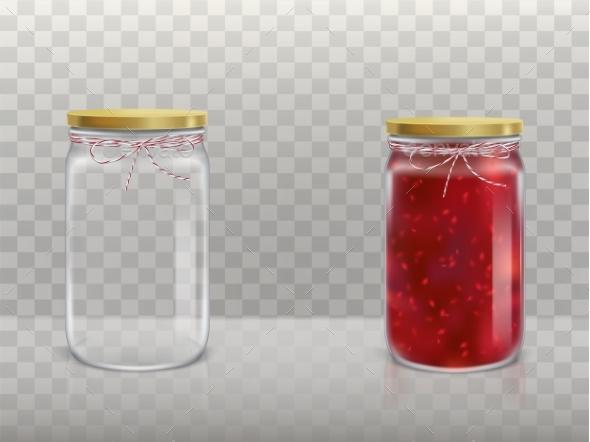 Set of Jars - Food Objects