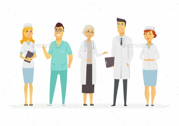 GraphicRiver Doctors Cartoon People Characters Isolated 20865036