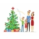 Happy Family Celebrates Christmas - GraphicRiver Item for Sale