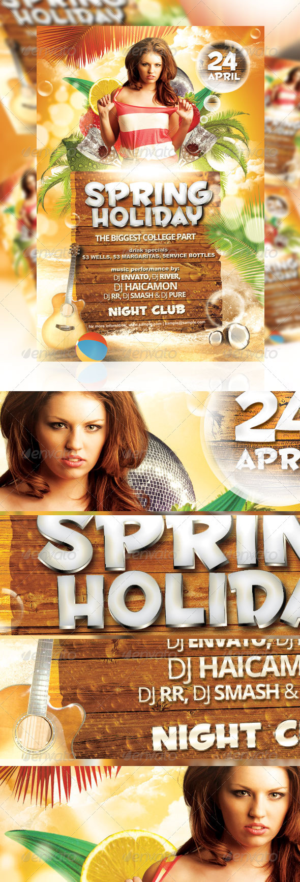 Spring Holiday Party Flyer - Events Flyers