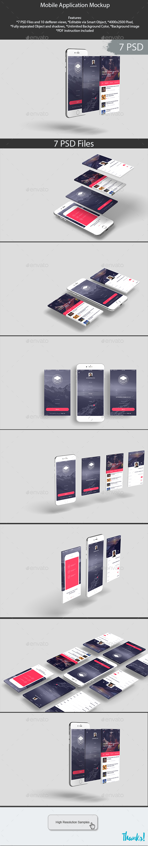 Mobile Application Mockup - Product Mock-Ups Graphics