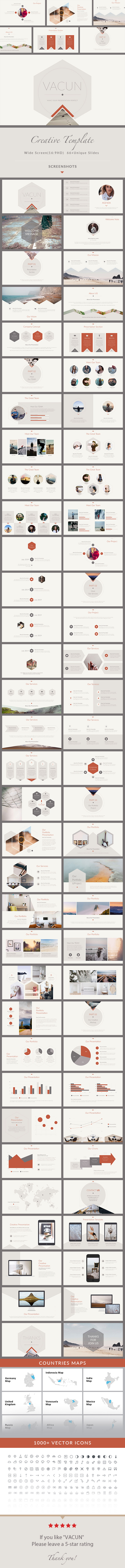 VACUN - Creative Keynote Presentation Template - Creative Keynote Templates