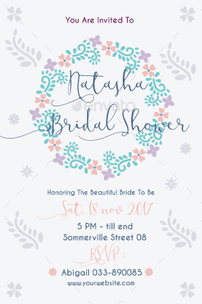 bridal shower party flyer by theoliveshop graphicriver